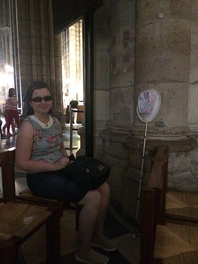 Фото: Кристина Тельпук в одном из храмов Европы